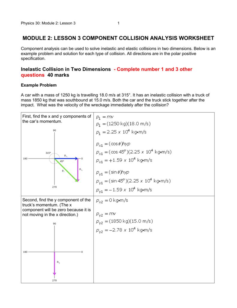 P30 1 2 3 Component Worksheet