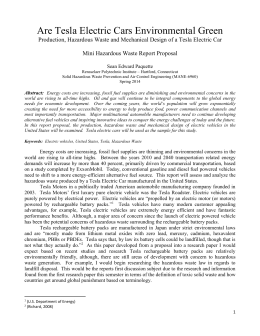 Paper #2 - Hazardous Waste - Proposal