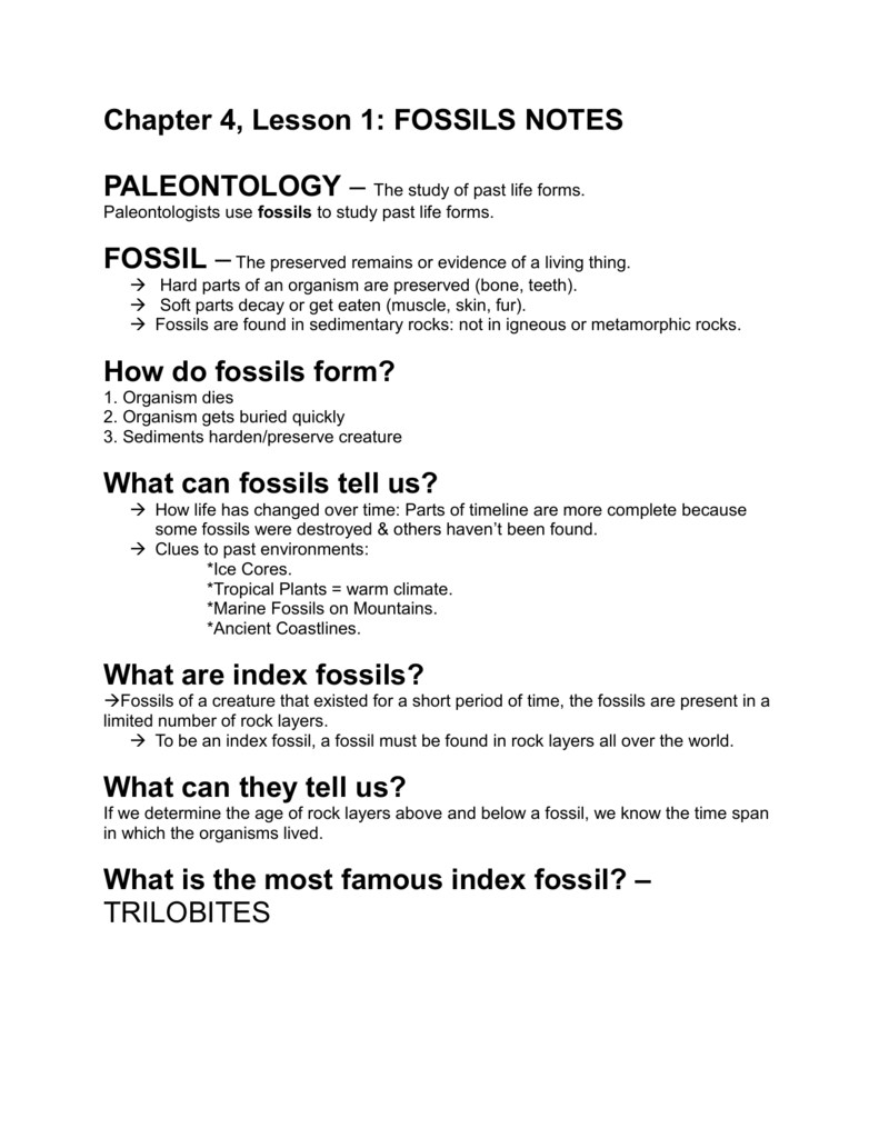 what makes a fossil an index fossil