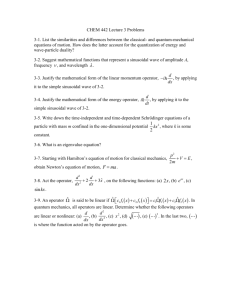CHEM 442 Lecture 3 Problems 3-1. List the similarities and