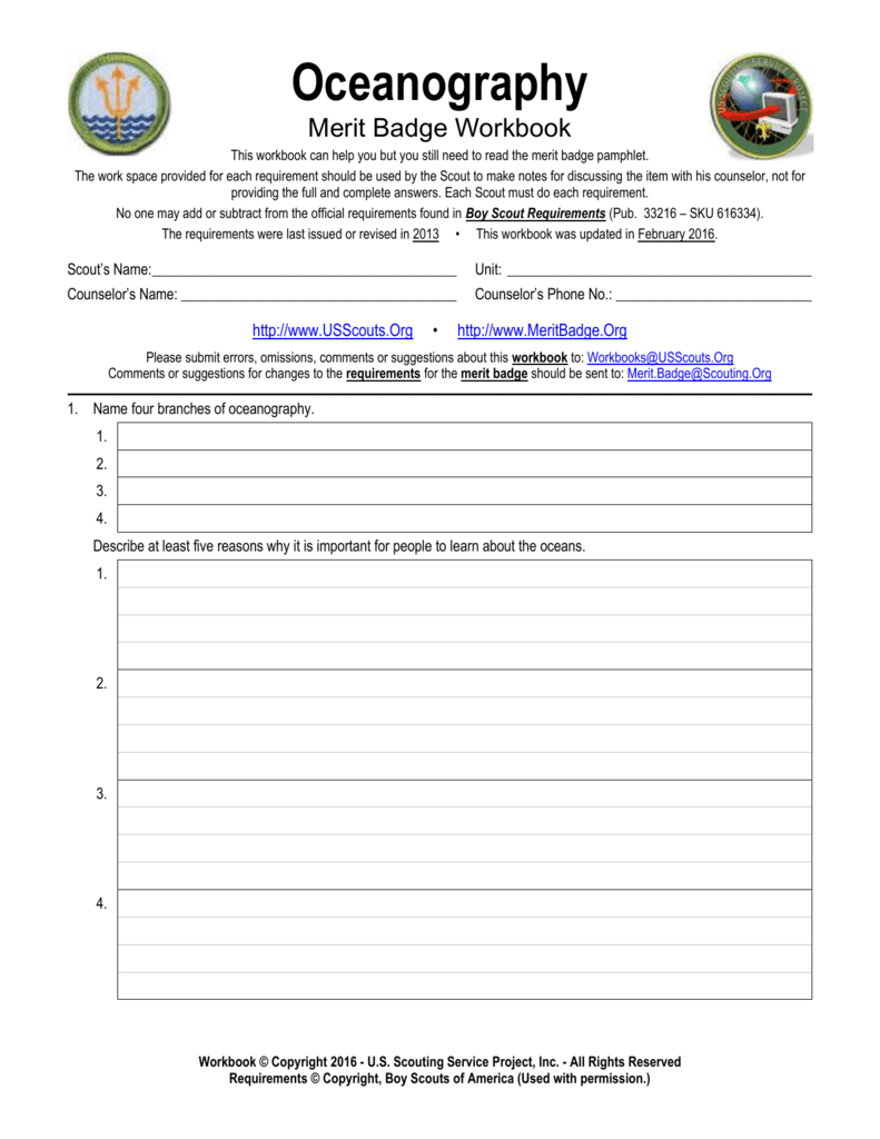 Worksheets Boy Scout Merit Badge Worksheets workbooks merit badge worksheets family life free printable fishing worksheet photos highqualityeducation