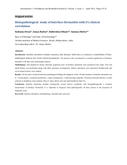 Histopathological study of Interface Dermatitis with it`s clinical