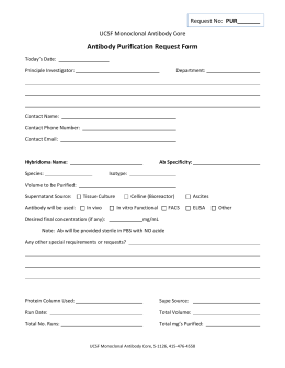 Antibody Purification Request Form
