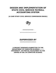 design and implementation of state civil service payroll accounting