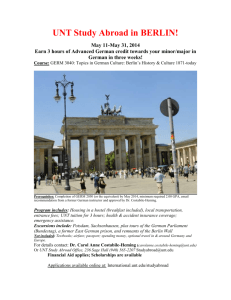 UNT Study Abroad in BERLIN! - World Languages, Literatures