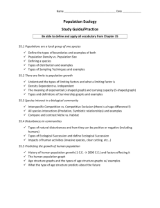 chp35 - population ecology study guide