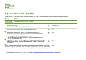 Equator Principles Checklist