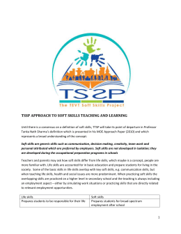 TSSP Approach to soft skills teaching and learning