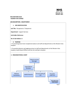 nhs western isles - person specification