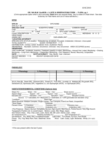 GeoBOB Observation Form