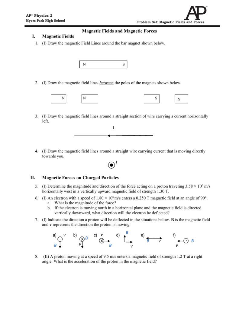 PROBLEM SET AP2 Magnetic Fields and