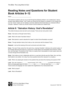 Reading Notes and Questions for Student Book Articles 9–12