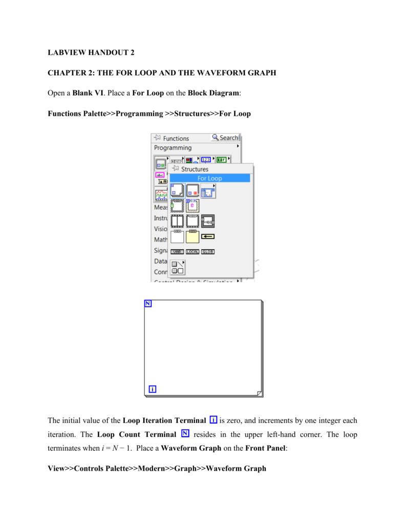 Labview Handout 2 Chapter The For Loop And Block Diagram Math