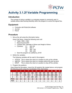 Activity 3.1.2f Variable Programming Introduction