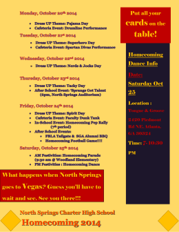 homecoming flyer - Fulton County Schools