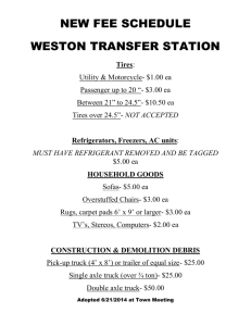 new fee schedule - Weston Town Office