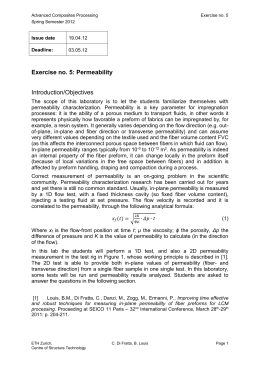 Exercise no. 5: Permeability