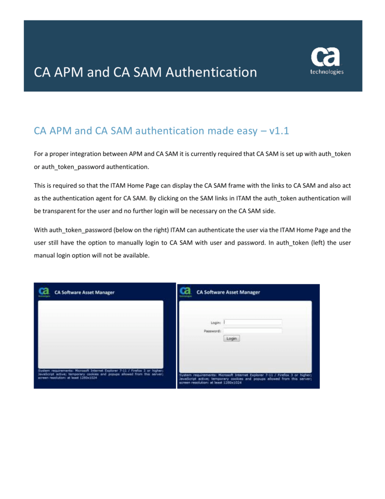 Configuring CA SAM with LDAP authentication