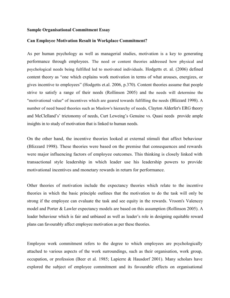 Phd thesis on organizational commitment