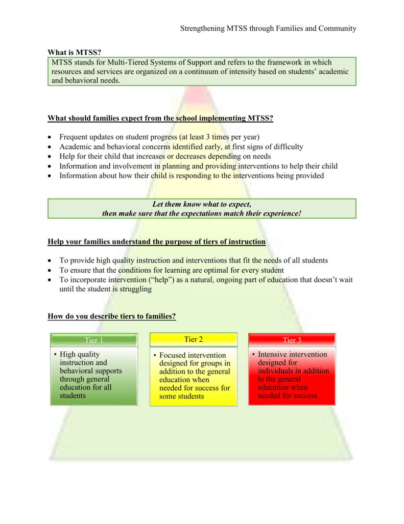 MTSS Handouts