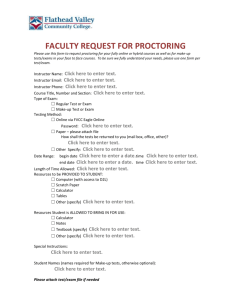Faculty Request For Proctoring form