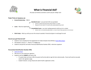 Financial Aid Notes (Complete)
