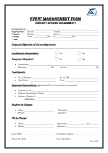 Event Management Form