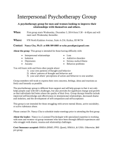 Interpersonal psychotherapy group flyer