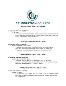 Here is a look at the curriculum for our Celebration College