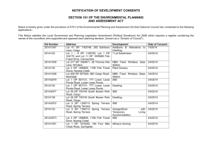 April 2014 Development Approvals