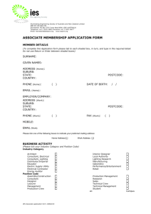 Associate Member Application Form