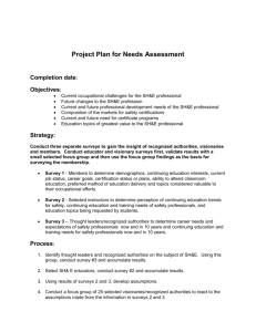 Education Planning Project Plan for Needs Assessment