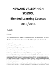 Blended Learning Courses - Newark Valley Central Schools