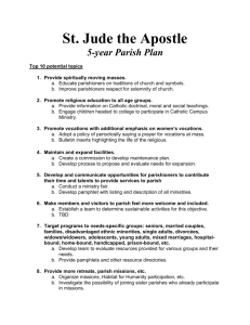 Five Year Plan - St. Jude the Apostle