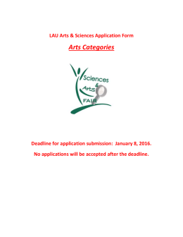 Arts Application Form