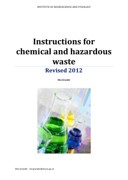 How handle hazardous waste