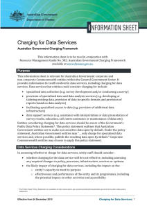 Information Sheet on Charging for Data Services