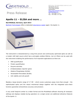 Press Release Apollo11 ELISA Reader