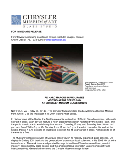 Press Release - Chrysler Museum of Art