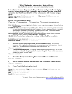 PIERCE Behavior Intervention Referral Form