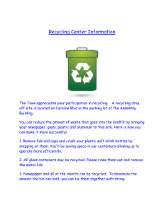 Recycling Center Information