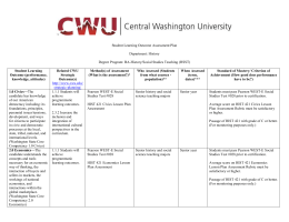 SLO Plan - Central Washington University