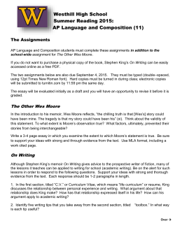 AP English Language and Composition/ECE