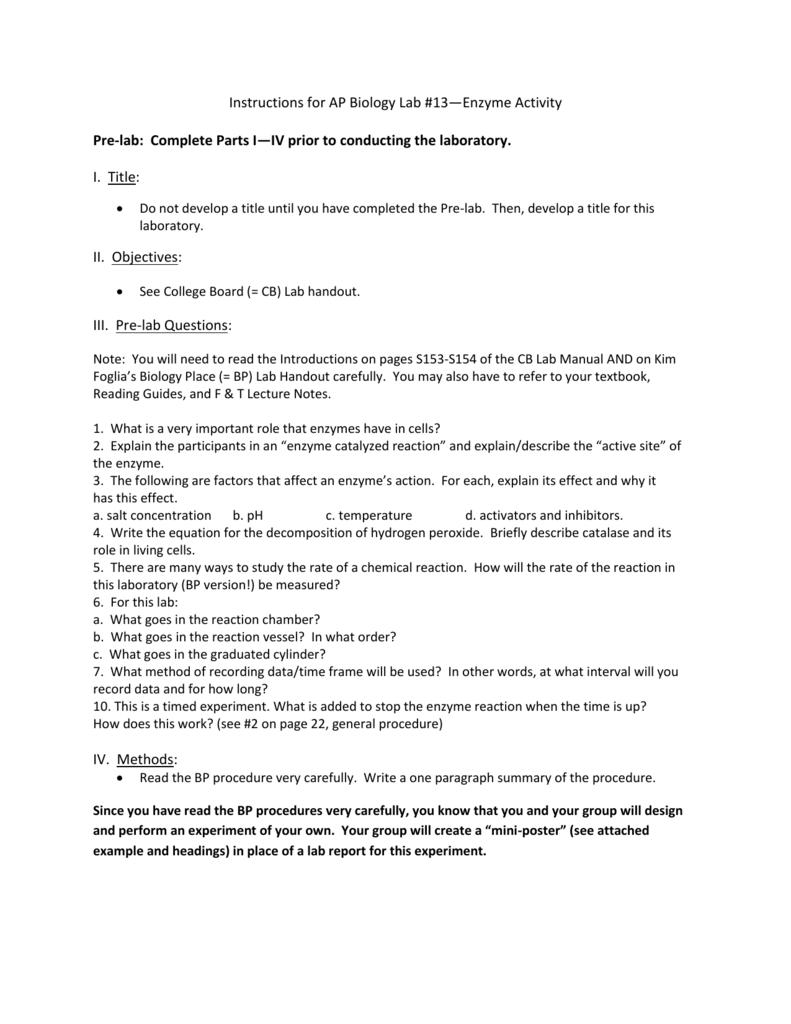 the laboratory summary