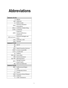 abbreviaitons & medical term list