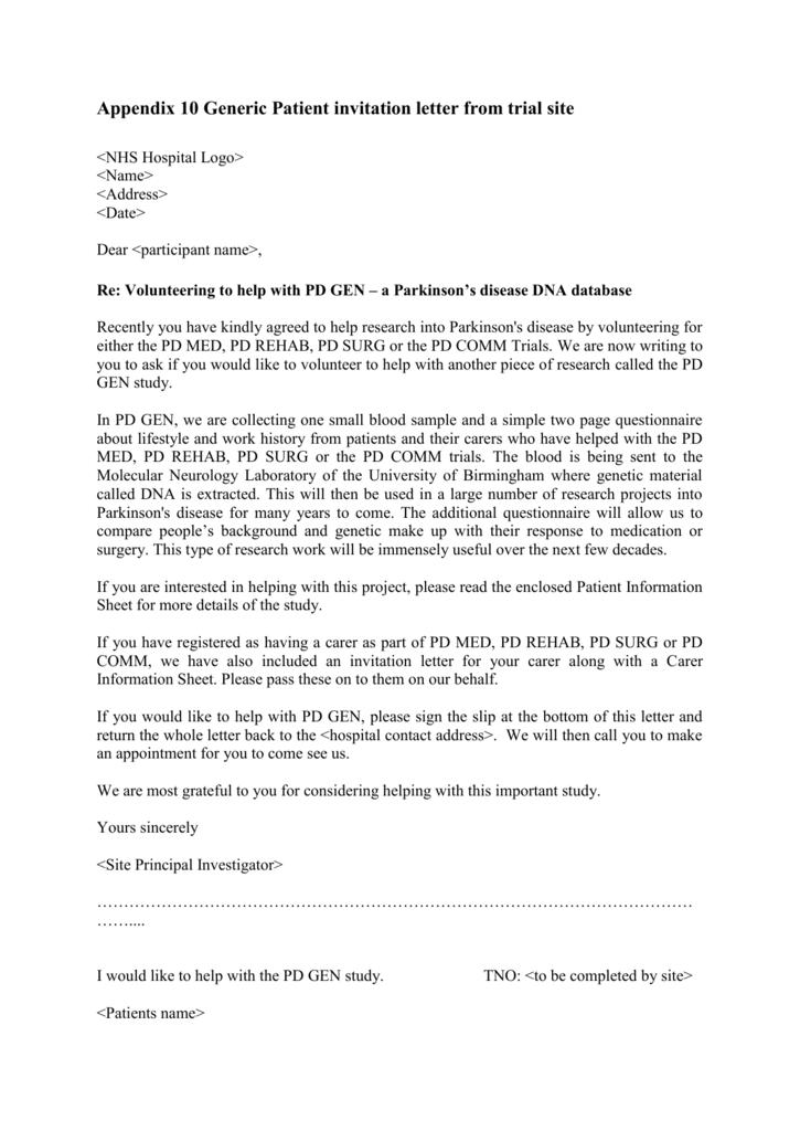 Appendix 10 generic patient invitation letter from trial site 0070801621 057d8d33fd32995676e7cbc7982b1ac4g stopboris Images