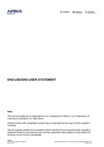 End Use Statement