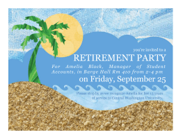 Party invitation (tropical) - Central Washington University
