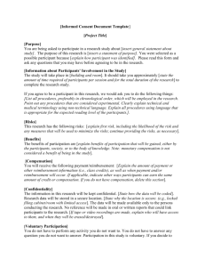 Informed Consent Document Template