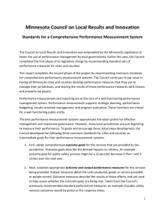Minnesota Council on Local Results and Innovation Standards for a